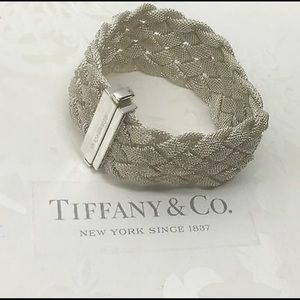 925. Silver Tiffany & co mesh bracelet